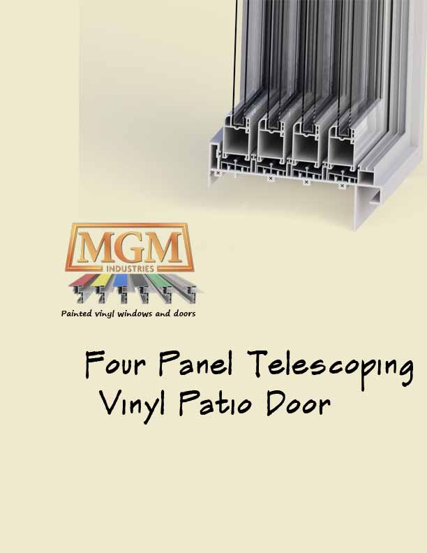 telescoping four panel Sliding Patio Door