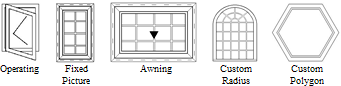 Series 5010 Available Window Configurations